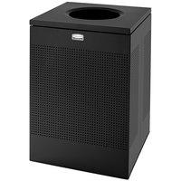 Rubbermaid SC22E Silhouettes Black Steel Designer Waste Receptacle - 50 Gallon (FGSC22EPLTBK)