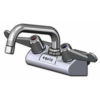 Equip by T&S 5F-4WWX06 6 1/8 inch Wall Mount Swivel Faucet with 4 inch Centers and Wrist Action Handles