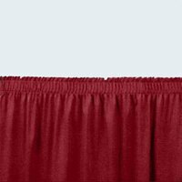 National Public Seating SS8-96 Burgundy Shirred Stage Skirt for 8 inch Stage - 7 inch x 96 inch