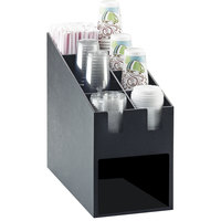 Cal-Mil 2046 Classic Cup / Lid / Straw Organizer with Napkin Dispenser Slot - 9 1/4 inch x 19 1/4 inch x 16 3/4 inch