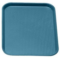 Cambro 1418FF414 Teal 14 inch x 18 inch Customizable Fast Food Tray 12/Case