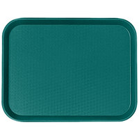 Cambro 1418FF414 14 inch x 18 inch Teal Customizable Fast Food Tray - 12/Case