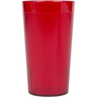 Cambro 800P2156 Colorware 7.8 oz. Ruby Red Plastic Tumbler - 24/Case