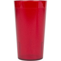 Cambro 800P2156 Colorware 7.8 oz. Ruby Red Plastic Tumbler - 24 / Case