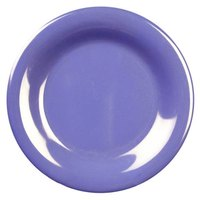 7 7/8 inch Purple Wide Rim Melamine Plate 12 / Pack