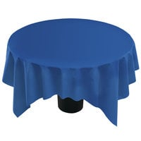 Hoffmaster 210437 82 inch x 82 inch Linen-Like Navy Blue Table Cover - 12 / Case