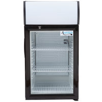 Avantco SC-52 Black Countertop Display Refrigerator with Swing Door - 2 cu. ft.