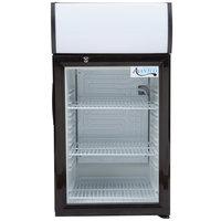 Avantco SC-52 Black Countertop Display Refrigerator with Swing Door - 2 cu. ft.