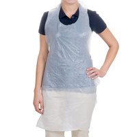 "Choice 42"" x 24"" .50 Mil Disposable Poly Apron - 100/Box"