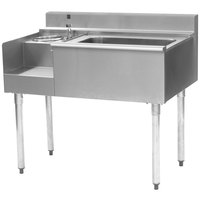 Eagle Group BM62-22L 62 inch Blender Module with Center Mount 16 inch x 20 inch Ice Chest and Left Mount Drain Board