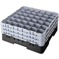Cambro 36S1114110 Black Camrack 36 Compartment 11 3/4 inch Glass Rack