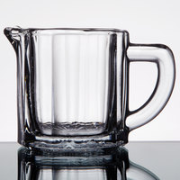 Anchor Hocking 7008 2.5 oz. Glass Creamer with Handle - 24/Case