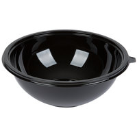 Fineline Super Bowl 5160-BK 160 oz. Black Plastic Bowl - 5/Pack