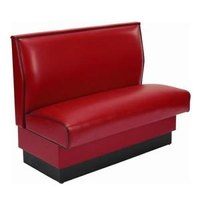 American Tables & Seating AS-36-D Plain Single Deuce Fully Upholstered Booth - 36 inch High