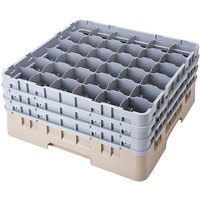 Cambro 36S738184 Beige Camrack 36 Compartment 7 3/4 inch Glass Rack