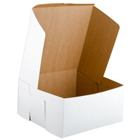 12 inch x 12 inch x 6 inch White Cake / Bakery Box - 50 / Bundle