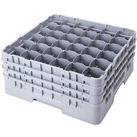 Cambro 36S1114151 Soft Gray Camrack 36 Compartment 11 3/4 inch Glass Rack