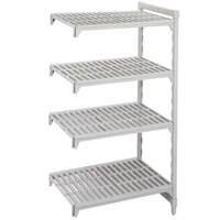 Cambro Camshelving Premium CPA246084V5PKG Vented Add On Unit 24 inch x 60 inch x 84 inch - 5 Shelf