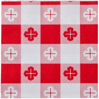Hoffmaster 020398 Red Gingham Beverage / Cocktail Napkin - 250 / Pack