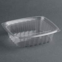 Dart Solo C24DCPR ClearPac 24 oz. Clear Rectangular Plastic Container with Lid - 252/Case