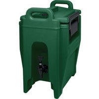 Cambro UC250519 Ultra Camtainer 2.75 Gallon Green Insulated Beverage Dispenser