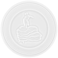 Homer Laughlin 443100 Fiesta White 6 inch Trivet - 6/Case