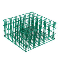 36 Compartment Catering Glassware Basket - 2 7/8 inch x 2 7/8 inch x 9 inch Compartments