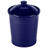Homer Laughlin 573105 Fiesta Cobalt Blue Large 3 Qt. Canister with Cover - 2/Case