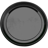 Sabert 9916 16 inch Black Onyx Round Catering Tray 36 / Case