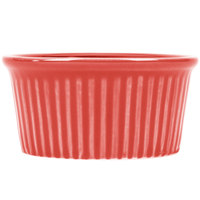 CAC RKF-3RED Festiware 3 oz. China Fluted Ramekin Red - 48/Case