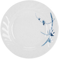 Blue Bamboo 8 inch Round Melamine Curved Rim Plate - 12 / Pack