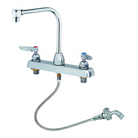 T&S B-1173-101-48H Deck Mount Workboard Faucet with 8 inch Centers and 48 inch Spray Valve - 7 7/8 inch Spread