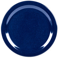 Carlisle 4350035 Dallas Ware 10 1/4 inch Cafe Blue Melamine Plate - 48/Case