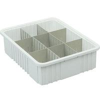 Metro MTB92060W 17 inch x 11 inch x 6 inch White Divider Tote Box