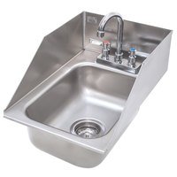 Advance Tabco DI-1-10SP Drop In Stainless Steel Sink with 6 inch Tapered Side Splash - 10 inch x 14 inch x 10 inch Bowl
