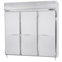 Beverage Air PRD3-1AS 3 Section Solid Door Pass-Through Refrigerator - 79 cu. ft., Stainless