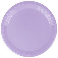 Creative Converting 28193011 7 inch Luscious Lavender Plastic Lunch Plate - 240 / Case