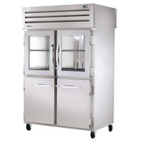 True STR2RPT-2HG/2HS-2S Specification Series Two Section Pass-Through Refrigerator with Glass and Solid Half Front Doors and Solid Full Rear Doors - 56 Cu. Ft.