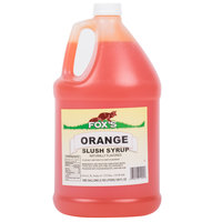 Fox's 1 Gallon Orange Slush Syrup   - 4/Case