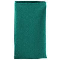 20 inch x 20 inch Teal Hemmed Polyspun Cloth Napkin - 12/Pack