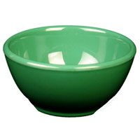Green 10 oz. 4 5/8 inch Diameter Melamine Soup Bowl - 12 / Pack