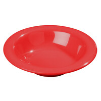 Carlisle 3304005 6 inch Red Sierrus 6 oz. Rimmed Bowl - 48/Case