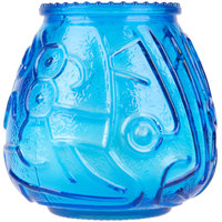 Sterno Products 40120 4 1/8 inch Blue Venetian Candle - 12 / Pack