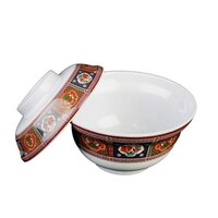 Peacock 20 oz. Round Melamine Noodle Bowl - 12 / Pack