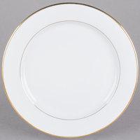 CAC GRY-21 Golden Royal 12 inch Bright White Round Porcelain Plate - 12/Case