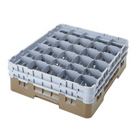 Cambro 30S318184 Beige Camrack 30 Compartment 3 5/8 inch Glass Rack