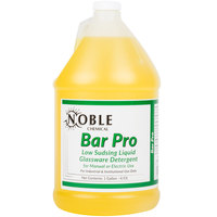 Noble Chemical Bar Pro Low Sudsing Liquid Detergent for Glassware 1 Gallon Bottle - Ecolab® 18143 Alternative - 4/Case