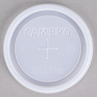 Cambro CLLT10 Disposable Translucent Lid with Straw Slot for Bowls, Mugs, and Tumblers - 1000 / Case