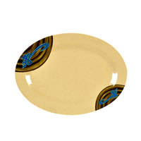Wei 12 inch x 8 5/8 inch Oval Melamine Platter - 12 / Pack