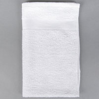 "Choice 16"" x 27"" White 44 oz. 100% Cotton Ribbed Heavyweight Bar Mop Towel   - 12/Pack"